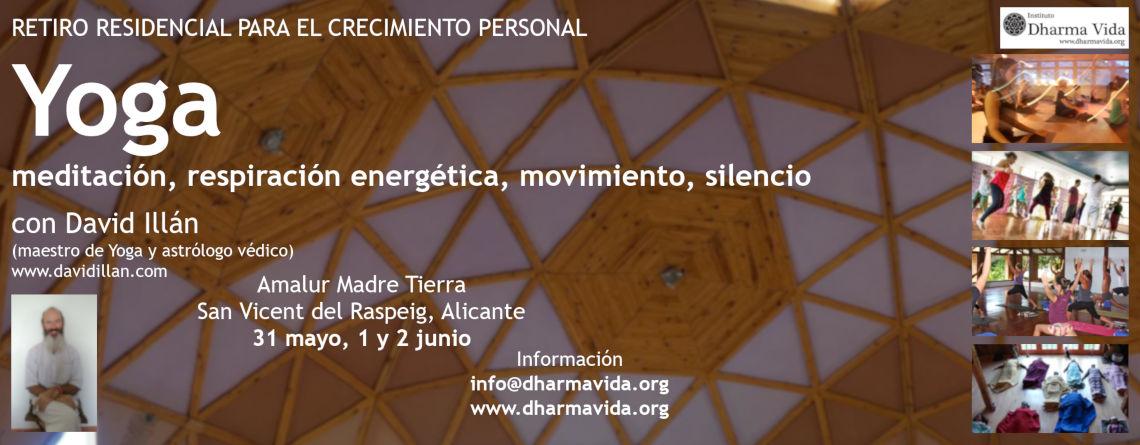 Retiro de Yoga, meditación, respiración, silencio, crecimiento personal, Mayo19, Alicante