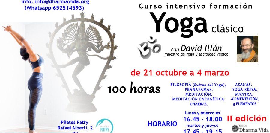 Curso intensivo de formación en Yoga clásico (100 horas) II ed.