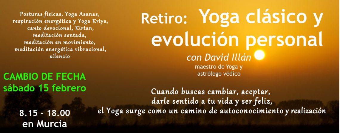 Retiro de Yoga clásico y evolución personal en Murcia feb 2020