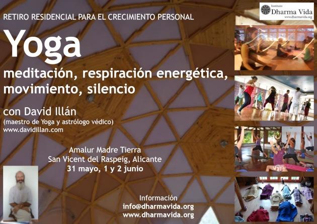 Retiro de Yoga, meditación, respiración, silencio, crecimiento personal, Mayo19, Alicante_1